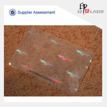 UV Protected Plastic PET Hologram Pouch For Paper Cards